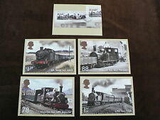 Classic Locomotives of Wales m/s, 5 PHQ Stamp Cards 2014, FDI Special H/S Back