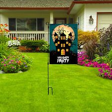 "Halloween Party Garden Flag, 12"" x 18"" Home Yard Lawn Decor Scary Outdoor Flag"