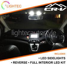 HONDA CRV MK2 MK3 MK4 18PC LED ERROR FREE PURE WHITE INTERIOR LIGHT UPGRADE KIT
