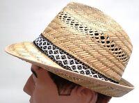 Hommes Chapeau de Paille Récolte Garten Party Trilby Jusqu'à XL Été