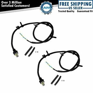 ABS Sensor Wire Harness Front LH RH Pair for Buick Cadillac Chevy Oldsmobile New