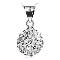 wholesale 925 Silver Necklace Crystal Ball Pendant women fashion jewelry gift