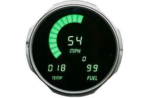 Jeep CJ 1955-1986 Green LEDs Dash Digital Gauges Speedo Tach Temp Fuel Warranty!