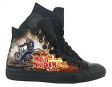 Original Converse Shoes + Iron Maiden Print (Limited Edition)