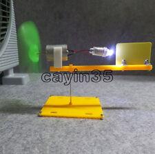 Micro wind turbines generator small DC motor blades w/ holder DIY project kit UK