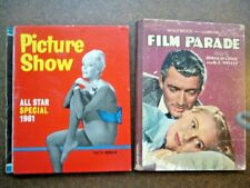 2 x Vintage Movie Annuals Film Parade 1948 & Picture Show 1961