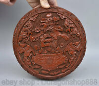 "8"" Qianlong Chinese Red Lacquerware Dynasty Flower Birds Fish Jewelry box"