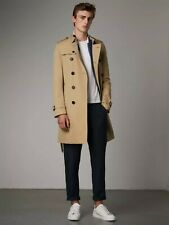 Burberry Chelsea Heritage Check Long-Length Honey Trench Coat - IT 48 US 38