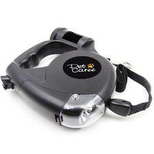 Retractable Dog Leash ? 16ft Dog Training Leash with LED Flashlight & Waste Bag