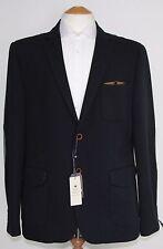 Men's Harry Brown Navy Blazer with Grey elbow pads (40R)... sample 632