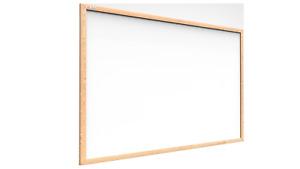 ALLboards Lavagna Bianca Magnetica con Cornice in Legno | Scrivibile e Cancellab