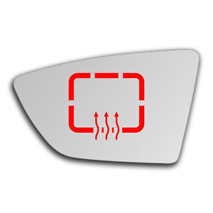Left Side Clip On Heated Mirror Glass for Seat Ibiza 2017 - 2019 0851LSHP