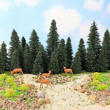 Model Pine Trees Green H0 N O Scale 1:87 Model Moose Deer Model Railway Layout
