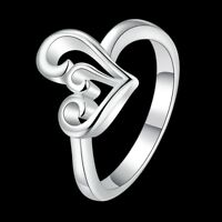 Elegant 925 Sterling Silver SF Filigree Heart Ring Size 7/8 R-A352 Woman Gift