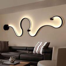 Modern Acrylic Curve Light Snake LED Lamp Nordic Led Belt Wall Sconce ForDecor