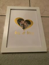 Wedding Guest Book Alternative Frame with Display Stand, Hearts, Signing Book