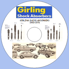 GIRLING SHOCK ABSORBERS CATALOGUE 1950-1976 (Inc Strut & Lever Type Shocks)