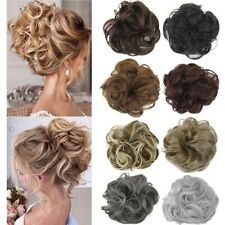 Curly Messy Bun Hair Piece Scrunchie Updo Cover Hair Extensions Real as human AU