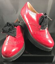 Penny Loves Kenny Red Patent Leather Oxford Shoe SZ 8