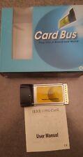 3 Port 1394a Ieee-1394 FireWire 400 Laptop Adapter Card New