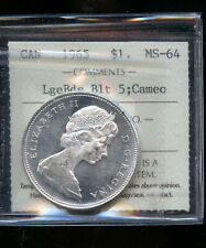 1965 LBB5 Canada Silver Dollar ICCS Certified MS64 Cameo  DCB70