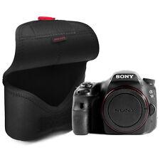 MATIN Neoprene DSLR SLR RF Mirrorless Camera Soft Body Case Pouch Bag (L/Black)