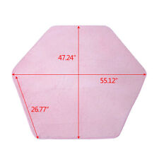 Children Kids Princess Castle Play Tent Hexagon Rug Bedroom Floor Coral Pink Mat
