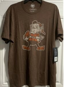 Cleveland Browns 47 Brand scrum T-Shirt large brown legacy vintage throwback