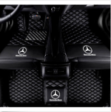 For Mercedes-Benz 2004-2020  Waterproof Front & Rear Car Floor Mats Black
