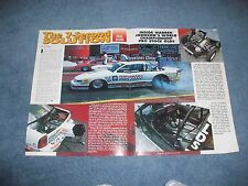 Warren Johnson Pro Stock Oldsmobile Pro Stock Drag Car Vintage Article