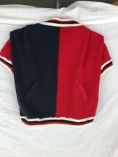 Companion Road XL Dog Letterman Coat/Jacket Red White Navy Blue Hook Loop Close