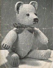 Vintage Teddy Bear knitting pattern.Laminated copy.