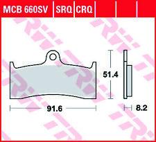 TRW SV Street Front Brake Pads MCB660SV Buell S3T 1200 Thunderbolt 1997-1998
