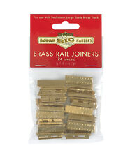 Bachmann G Brass Track Rail Joiners (24 pieces) 94657 Also Fits Aristo & USA