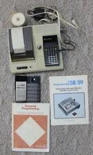 Texas Instr. TI 58 / 59 Programmable Calculator Printer Manuals Master Library