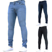 Mens Slim Fit Stretch Jeans Fashionable Super Skinny Denim Pants Casual Trousers