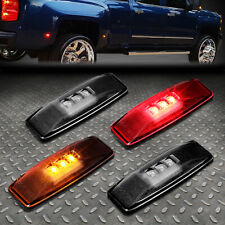FOR 1994-2002 DODGE RAM SMOKED LENS LED DUALLY FENDER SIDE MARKER LIGHT/LAMP SET