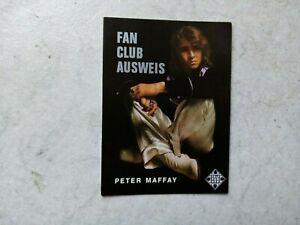 Peter Maffay  -  Fan -Club -Ausweis - aus den 70 er Jahren -top  #. #