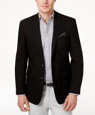 $600 CALVIN KLEIN Mens Slim Fit Wool Sport Coat Black SUIT JACKET BLAZER 46 L