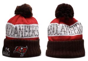Tampa Bay Buccaneers NFL Football Beanie Warm Pom Knit Cap Hat Fleece lined