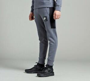 Junior Nike Air Jog Pants Dark Grey