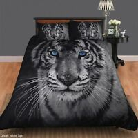 White Tiger Duvet | Doona Quilt Cover Set | Animal Print | Double