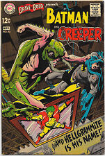 Brave and the Bold #80 DC Comics 1968 Batman & The Creeper Neal Adams VG+