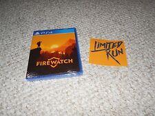 Limited Run #32 Firewatch PS4 Region Free Sticker Sealed Brand New