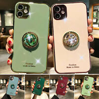 For iPhone 11 Pro Max 11 Case 8 7 Plus XS Max XR Diamond Ring Holder Phone Cover