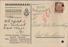 BIELEFELD, Postkarte 1940, Mineralbrunnen KG Heilwässer Tafelwasser