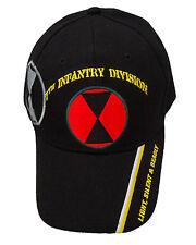 Licensed 7th Infantry Division Cap 399-BLK