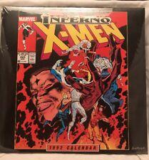 Vintage 1992 X-Men Inferno Comic Book Calendar Poster Marvel New Sealed