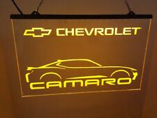 Chevrolet Camaro Led Neon Light Sign Display Bar ,garage Man Cave Large 16x12�