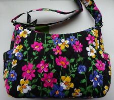 Vera Bradley ON THE GO WILDFLOWER GARDEN Purse Hobo Bag Crossbody FREE SHIPPING